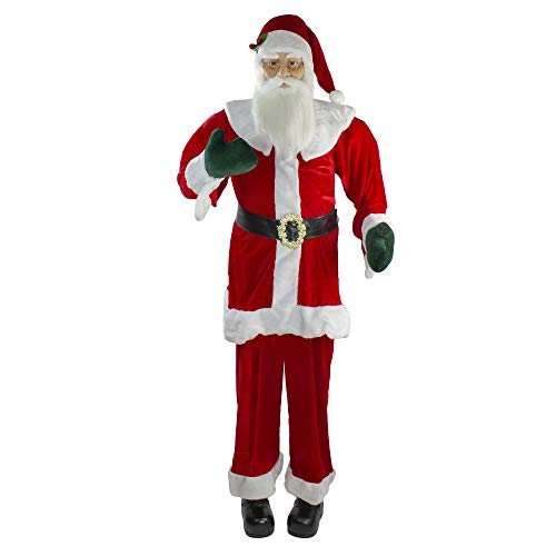 Northlight Christmas Decorations, Large Santa Claus Figures, Red