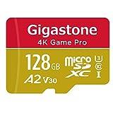 【5年保証 】Gigastone Micro SD Card 128GB A2 V30 マイクロSDカード UHS-I U3 Class 10 100MB/S 高速 micro sd カード Nintendo Switch 動作確認済 SD変換アダプタ付 ミニ収納ケース付 w/adapter and case 4K Ultra HD 動画