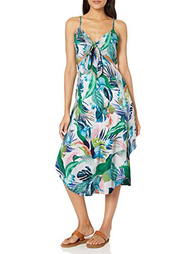 La Blanca Women's Cutout Front Tie Dress Swimsuit Cover Up, Multi//in The Monument, S