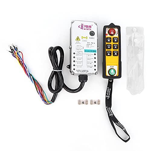 YU-6 Control remoto de cabrestante para grúa de una mano Interruptor eléctrico industrial con botón pulsador de 800 MHz (24 V CC) Accesorios de repuesto Accesorios de repuesto