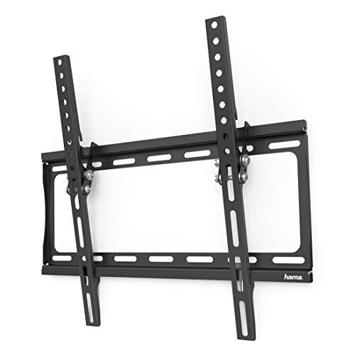 Hama TV Wandhalterung neigbar 10°, flach (universale TV Halterung für Curved und Flat TV 32-65 Zoll, Wandhalterung inkl. Fischer Dübel, VESA 75x75 bis 400x400, max. 35 kg, Wandabstand nur 2,4 cm)