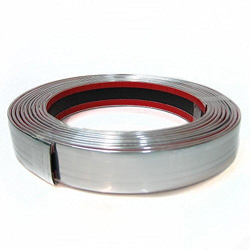 Autohobby 30mm x 5meter Zierleiste Chromleiste Universal Flexibel Selbstklebend Kunststoff Tuning Styling Chrom