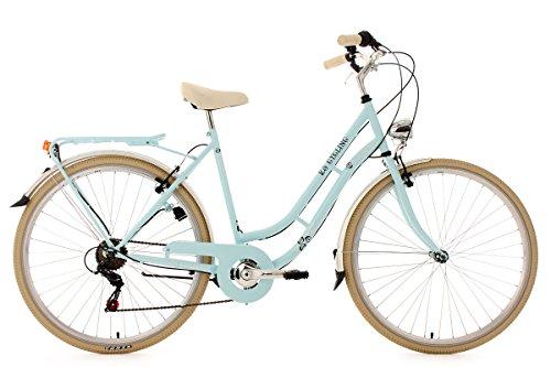 KS Cycling Damenfahrrad Cityrad 28'' Casino hellblau 6Gänge RH 53cm