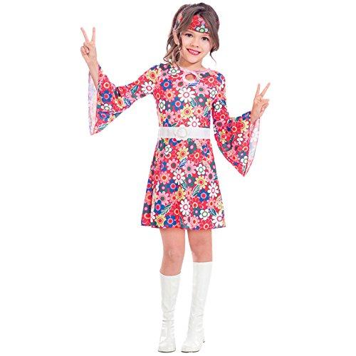 Fräulein aus den Sechzigern - 60er Jahre hippie Kostüm Kinder Mädchen Amscan