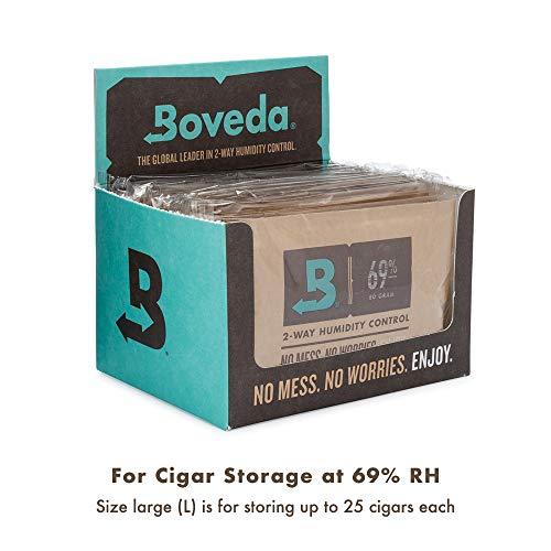 BOVEDA - Busta Umidificante da 60 grammi - PACK Risparmio con 12 Buste con Umidità 69%