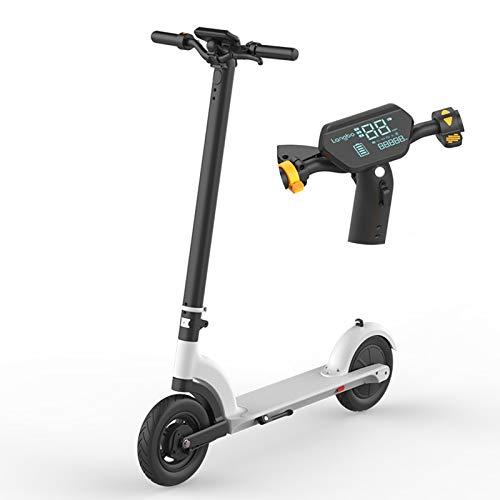 DRAKE18 8.5' Vespa eléctrica del Retroceso, Scooter E Plegable de 350W 7.8Ah con Pantalla LCD, Acelere hasta 25Km/H, Faro LED Integrado y luz Trasera de Advertencia