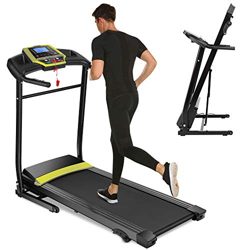 New Folding Electric Support Motorized Power Running Fitness Jogging Treadmill, 3 Level Manual Inclines Folding...