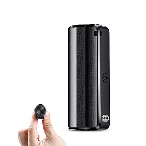 Registratore Vocale, Mini Registratore Vocale da 16GB con Attivazione Vocale-Durata Batteria di 19 giorni, Registratore impermeabile, un Pulsante per Registrare/Salvare, Ricaricabile