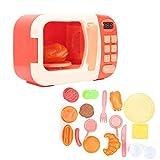 Zerodis Kinder Mikrowelle Spielzeug elektronische simulierte Mikrowelle Spielzeug mit leichten Kindern Rollenspiel pädagogisches Spielzeug für Kinder Jungen und Mädchen