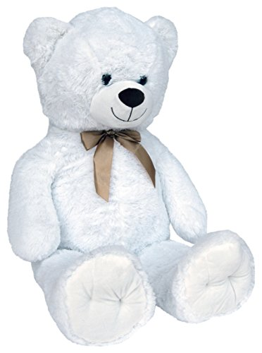 Wagner 9049 - Riesen XXL Teddybär 100 cm groß in Weiss - Plüschbär Kuschelbär Teddy weißer Bär