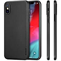 """memumi Compatible con iPhone XS Funda, Ultra Slim 0.3 mm Anti-Rasguño y Resistente Huellas Funda para iPhone XS 5.8"""" (2018) Thin Case Negro"""