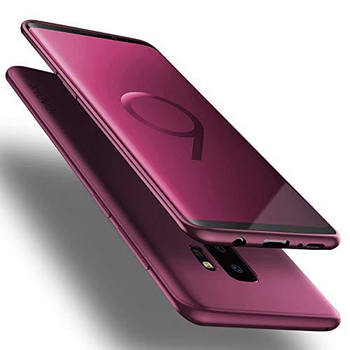 X-level Custodia per Samsung Galaxy S9 Plus,Morbido TPU Cover Slim Anti Scivolo Protezione Posteriore [Anticaduta, Antiscivolo, AntiGraffio, Antiurto] Custodia per Samsung Galaxy S9 Plus,Vino Rosso
