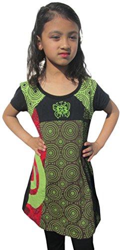 LITTLE KATHMANDU - Robe - Manches Courtes - Bébé (fille) 0 à 24 mois, Vert, 2 ans