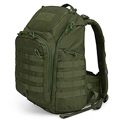 Mardingtop 30L Tactical Backpacks Molle Hiking daypacks for Camping Hiking Military Traveling Motorcycle (Army Green-30L)
