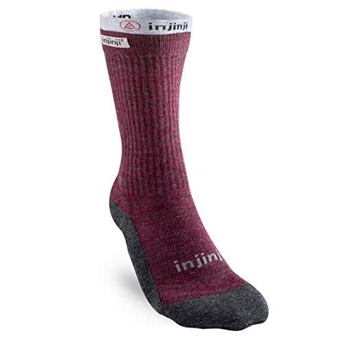Injinji Womens Liner+Hiker Socks Maroon 35-40