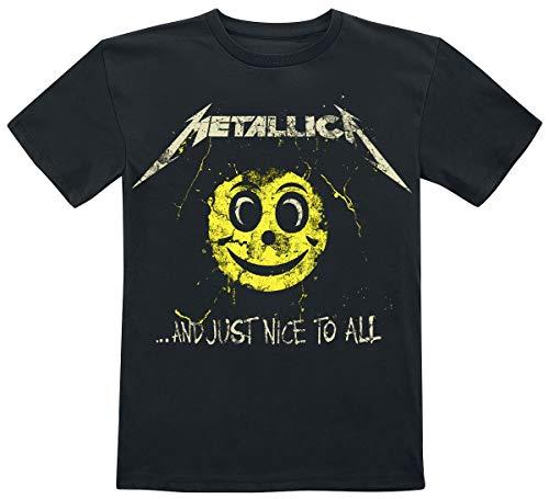 Metallica and Just Nice To All Kids T Unisex Camiseta Azul Marino 98, 100% algodón,