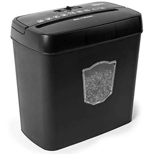 Duronic PS712 Aktenvernichter | Kompakter Shredder bis zu 5 A4 Blatt | 12 L Auffangbehälter | Kreuzschnitt GDPR: Datenschutz | Ideal für Kleinbüro, Freiberufler, Privatgebrauch