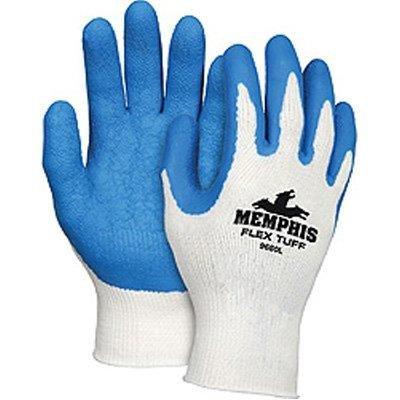 Memphis Flex-Tuff Latex-Dipped Work Gloves - Xl, Blue