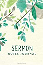 Sermon Notes Journal: Green Watercolor Leaves Personal Organize Notes and Motivations Write Record Remember And Reflect Scripture Notes & Key points Church Notebook (Religion & Spirituality)