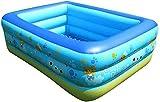 Bambini piscina gonfiabile con vasca for bambini Swim Center Sopra lo stagno a terra for le forniture all'aperto Summer Party Indoor, 4 Size (Dimensioni: 180 * 140 * 60cm) ZKDX ( Size : 180*140*60cm )
