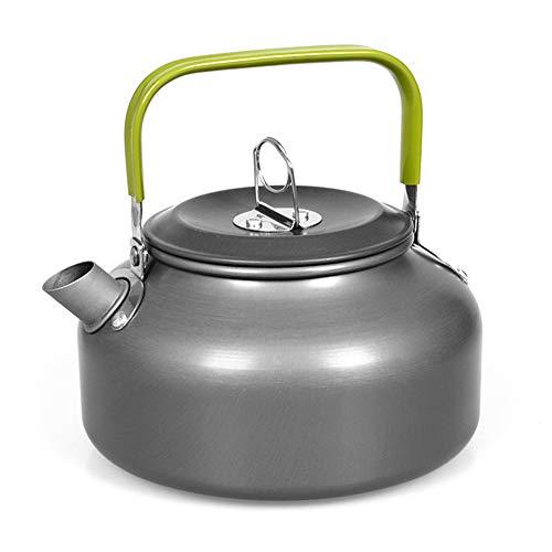 1,2 l draagbare waterkoker, waterkan, theekan, koffiepot, binnenkant, aluminiumlegering, theeketel, outdoor, camping, wandelen, picknick pot