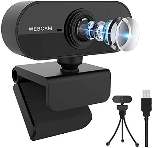 Webcam 1080P Full HD con Microfono,Webcam per PC, Laptop, Desktop, Computer, Webcam USB Plug And Play, per Video dal Vivo, Videochiamate,Conferenze, Lezioni Online e Giochi,Compatibile con Skype, Zoom