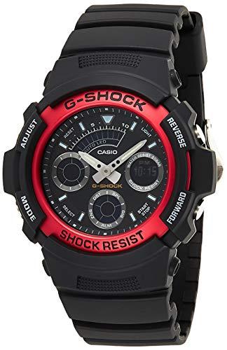 Casio G-SHOCK Reloj Analógico-Digital, 20 BAR, Rojo, para Hombre, AW-591-4AER