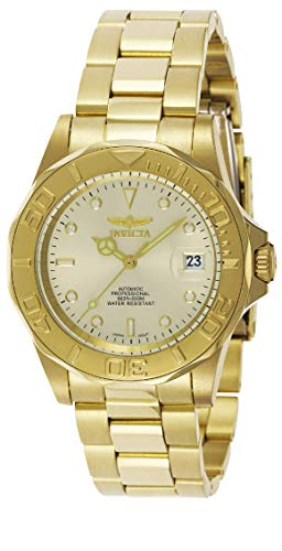 Invicta Mens Pro Diver 40mm Gold Tone Stainless Steel Automatic Watch, Gold/Champagne (Model: 9010)