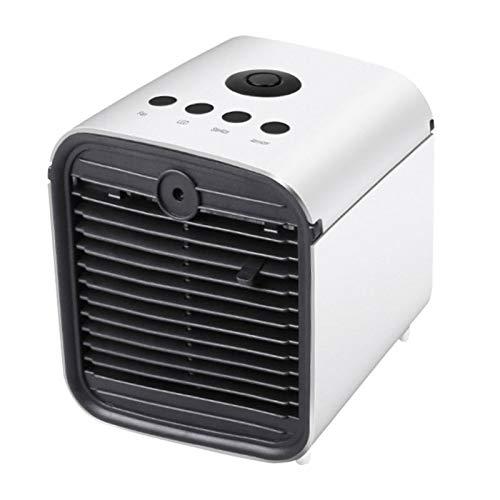 GGAOXINGGAO Nuevos fanáticos Office Household Mini Ventilador de Aire Acondicionado USB portátil de Escritorio Enfriador de Aire con batería (Blanco) (Color : Blanco)