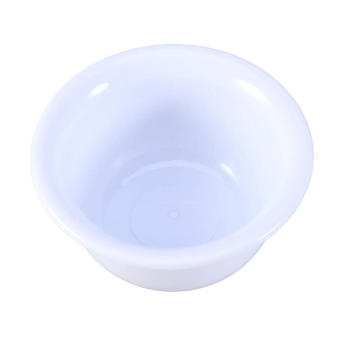 被害者溶けるチャンスカミソリ用SUPVOXマンズプラスチックシェービングボウルバーバーソープマグカップ(ホワイト)