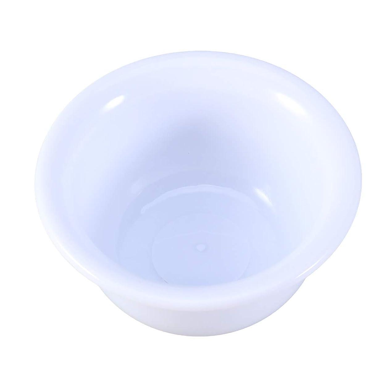 発行警報無意味男性用Healiftyプラスチックシェービングボウルシェービングクリームソープボウル(ホワイト)