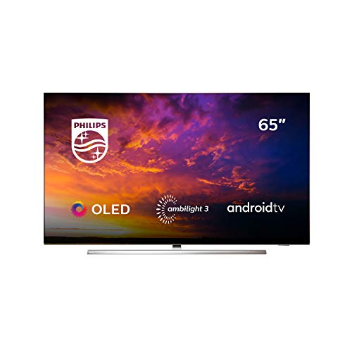 Philips 65OLED854/12 - Televisor Smart TV OLED 4K UHD, 65 pulgadas, Android TV, Ambilight 3 lados, HDR10+, Dolby Vision, Google Assistant, compatible con Alexa, color gris