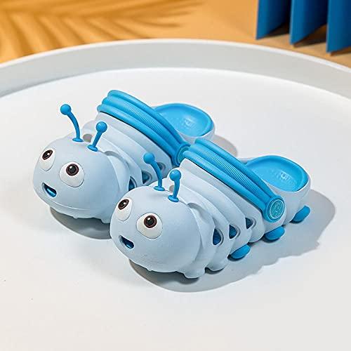 Zapatillas De Casa Para Mujer Cerradas,Zapatos De La Cueva Para NiñOs, Dibujos Animados Caterpillar Lindo Suave Inferior Antideslizante Anti-ColisióN Hombres Y Mujeres Bebé Playa Interior Y Al Aire Li