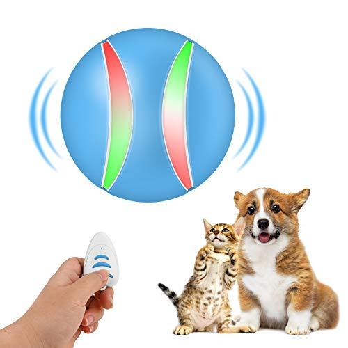 Hundeball mit Remote Control und LED blinkt,Beinhome Hund Katze Intelligenz Spielzeug Interaktives Automatisch Hundespielzeug Ball mit USB Wiederaufladbar,Automatisch Spinnen,für Haustier Hunde Katze