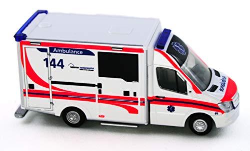 Rietze 76104 - was Design-RTW Facelift Ambulance Kantonsspital Luzern (CH) - 1:87