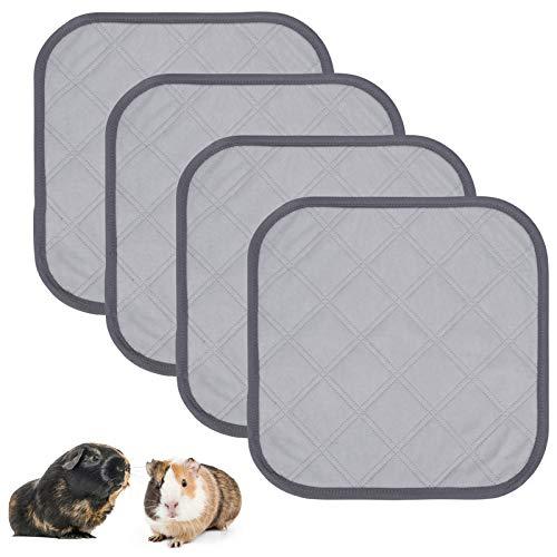 4 unidades de forro polar para jaulas, almohadillas impermeables para hámsters, reutilizables, lavables, antideslizantes, ropa de cama para animales pequeños, almohadillas extra absorbentes