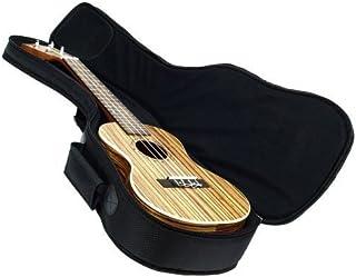Hola! Music Heavy Duty CONCERT (up to 24 Inch) Ukulele Gig Bag with 15mm Padding, Black