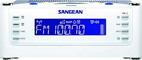 Sangean RCR-22 Radiowecker - Tischradio mit AM und FM - White