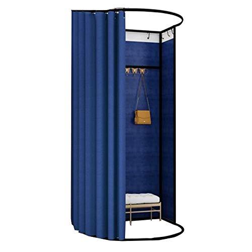 BAIYING Tienda De Ropa Sala De Montaje, Portátil Plegable Gran Espacio Tubo De Metal Tela De Lino Estable Y Duradero Sencillo Probador, 13 Colores (Color : Blue, Size : 85X80X200CM)