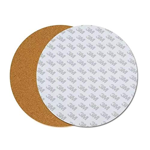Manyao 3D printer accessories, 300 * 3mm Round Heated Bed Heating Pad Insulation Cotton With Cork Glue For 3D Printer printer