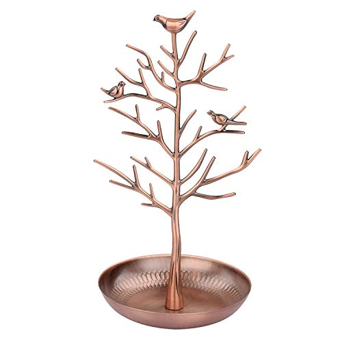 U.mslady Jewellery Stand Earring Holder Ring Display Birds Tree Necklace Organizer(Antique Bronze)