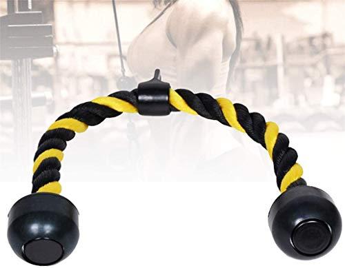 Eortzzpc Equipo de polea con Cable, Cuerda de Cables de Nylon Trenzada de 110 cm, culturistas, Gimnasio Cruzado, etc, Encaja en Cualquier máquina de Cable o múltiples Gimnasio, Accesorio de cabl