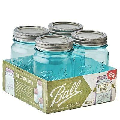 Ball-Vintage Blue Einmachgläser, 473 ml, 4 Stück