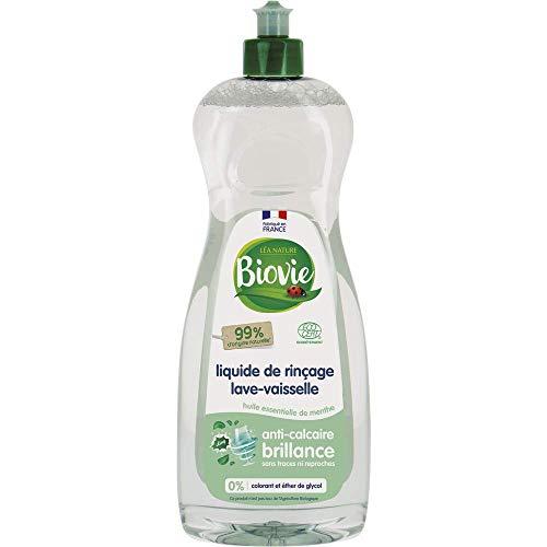 Biovie Liquide de Rinçage pour Lave-Vaisselle à l'Huile Essentielle de Menthe Bio 750 ml-lot de 2