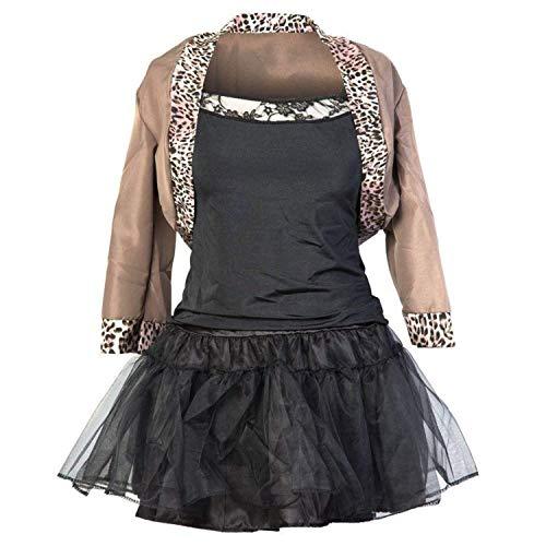 Emmas Wardrobe 80er Jahre Kostüm | Beinhaltet Jackett, Schwarzes Top, Schwarzen Rock, Haarband und Handschuhe | Grobe 34-42 | Madonna Kostüm oder 80er Frauen Kostüm| (38)