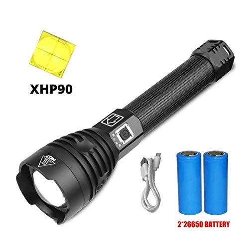 APPLL 250000 Lumen Xhp90 Most Powerful LED-Taschenlampe Xhp90.2 USB Aufladbare Taschenlampe Xhp90 Handlampe, Modell Batterie 26650 Blitzlicht-Lampe
