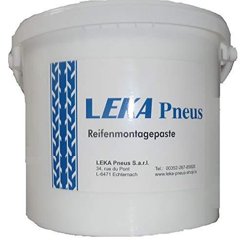 LEKA Pneus LELUX Pâte de Montage de qualité pour Voitures, camions, Motos, Seau de 1 kg