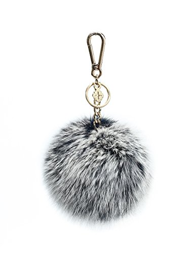 Pom Pom Keychain Accessories for Women by miss fong,Puff Ball Fur Ball Bag Charm