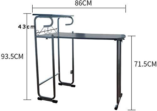 XCJ multifunctionele klaptafel, eenvoudige klaptafel, computertafel met twee stoelen wit