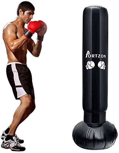 Sacos de Suelo, Saco de Boxeo de Boxeo Independiente, Saco de Boxeo de 160 cm, Bolsa de Pesas para Ejercicio físico Que Reduce la presión con una Bomba de Aire de pie Gratis para Adultos niños